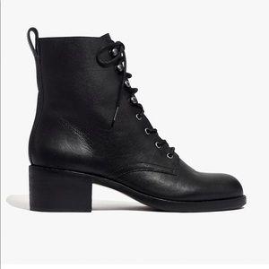 madewell patti lace up boot BNIB 10M